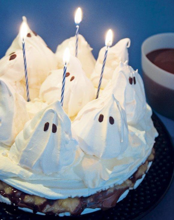 Spöktårta till Halloween
