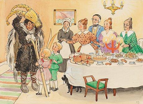 """""""Den ena är Farbror Blå, den andra är kolaren."""" av Elsa Beskow 1874-1953"""