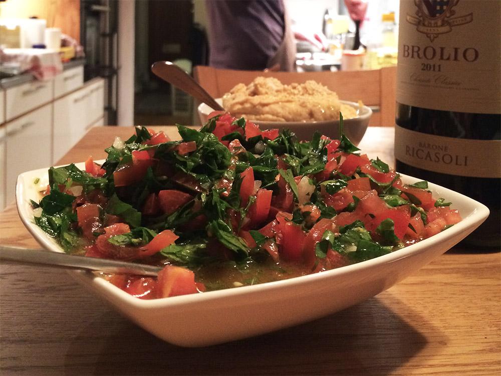 Tabbouleh och hummus