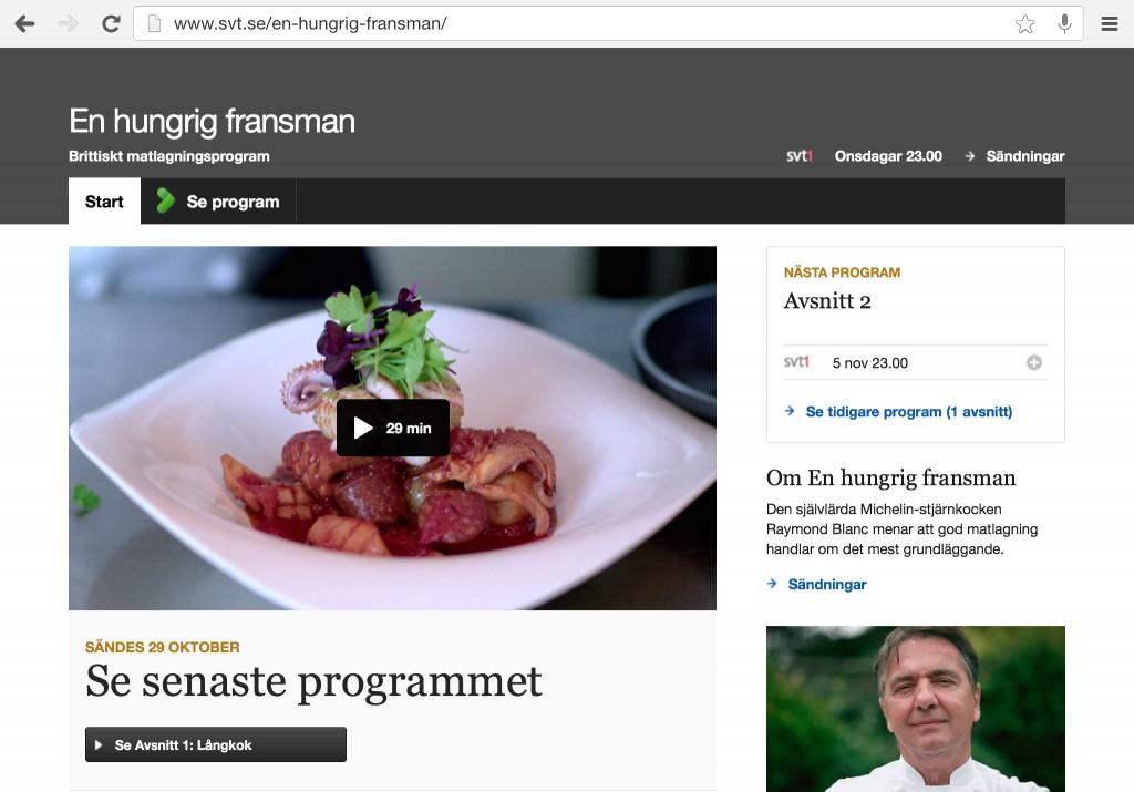 En hungrig fransman på SVT.se